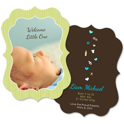 Welcome Little One Boy Card