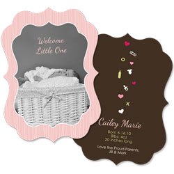 Welcome Little One Girl Card